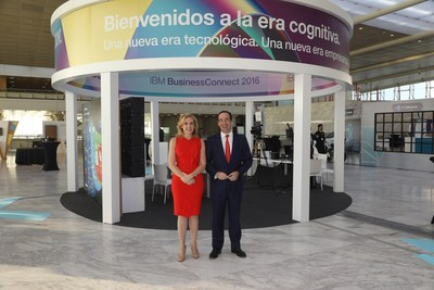 L-R: Marta Martinez, GM, IBM SPGI (Spain, Portugal, Greece & Israel) and CaixaBank CEO, Gonzalo Gortazar.